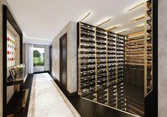 wine room off hallway in apartment #wineroom