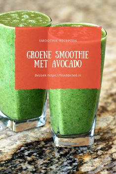 Green smoothie with avocado, Smoothie Avocado Smoothie, Smoothie Vert, Raspberry Smoothie, Apple Smoothies, Healthy Smoothies, Healthy Drinks, Smoothie Recipes, Natural Detox, Health Breakfast