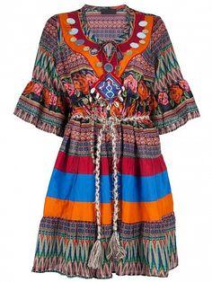60s #Hippie Style Boho Dress