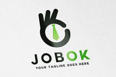 Job OK Logo by OrangeMango on Creative Market Ok Logo, Management Logo, Music Festival Logos, Find Logo, Express Logo, Construction Logo, Animal Logo, Logo Branding, Branding Design