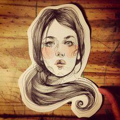 from Paula Bonet illustration Facebook People Illustration, Illustration Sketches, Illustrations And Posters, Graphic Design Illustration, Sketchbook Drawings, Art Drawings, Adara Sanchez, Paula Bonet, Quirky Art