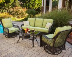 Hanover Outdoor Orleans 4 Piece Deep Seating Group with Cushions & Reviews   Wayfair