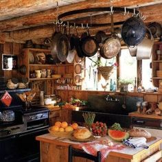 Eye For Design: Decorating The Rustic Kitchen