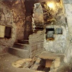 Present-day interior of the tomb said to have belonged to Lazarus