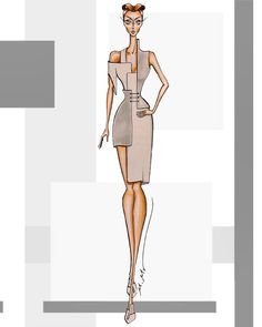Creativity in the design of geometric shapes (square). Fashion Drawing Tutorial, Fashion Figure Drawing, Fashion Drawing Dresses, Dress Fashion, Dress Design Sketches, Fashion Design Sketchbook, Fashion Design Drawings, Fashion Illustration Collage, Fashion Illustration Dresses