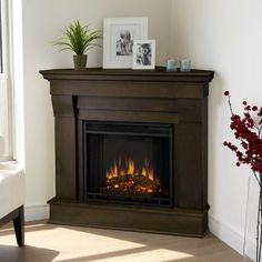 Corner Gas Fireplace | Lennox Zero Clearance Gas FIreplace in a ...