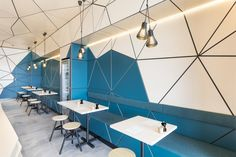 A triangular exploration – Biasol's Little Hugh cafe | Australian Design Review #Interior #Design #Hospitality #InteriorDesign #Cafe