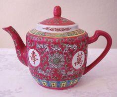 Zhongguo Jingdezhen China Famille Rose Longevity Tea Rose