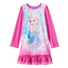 Disney's Frozen Elsa Snowflake Nightgown - Girls 4-10
