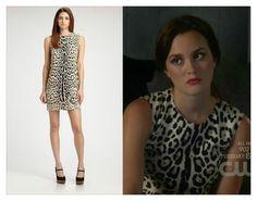 Dolce & Gabbana Leopard Print Chemise Dress