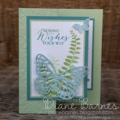 soft & pretty z fold birthday card using Stampin Up Butterfly Basics stamp set & die bundle. By Di Barnes #colourmhappy