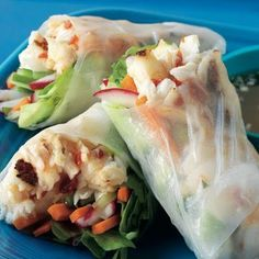 Halibut Summer Rolls with Lemongrass, and Radishes @keyingredient #vegetables