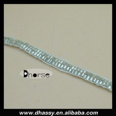 China wholesale 0.5cm width silver border handmade beaded lace trim for garment DH-BT1499, View beaded lace trim, Dhorse Product Details from Guangzhou Dhorse Garment Accessory Firm on Alibaba.com