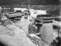 Construction du barrage de Vouglans (Jura) | Flickr: partage de photos!