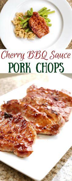 Cherry BBQ Sauce Pork Chops | homemadeforelle.com
