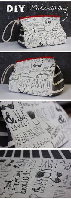 Hello Beautiful Makeup Bag | Kollabora
