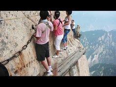 Bergtour auf den Huashan in China: Selfie am Abgrund   traveLink