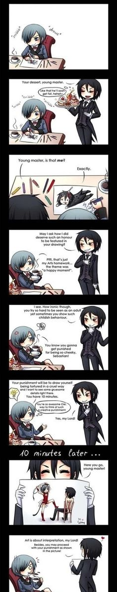 Heehee, Ciel, he's hinting he wants you to do it, so DO IT  -- I'm sure Ciel's not completely opposed to the idea.... ;) xD --