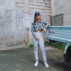 Jade Little Mix, Korean Fashion, White Jeans, Street Wear, Casual Outfits, Ootd, Korean Style, Cool Stuff, Pants