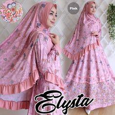 Gamis Elysta Syar'i Pink