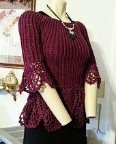 43632e13ba5e3 Ravelry  Haute Couture Peplum Top pattern by Mary Jane Hall Peplum Top  Pattern