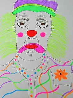 Bright spark the sad clown by Amanda Elizabeth Sullivan Code Art, Framed Prints, Canvas Prints, Manga Drawing, All Art, Art For Sale, Cambridge, Amanda, Abstract Art