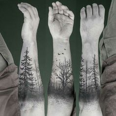 Forearm is one of the most popular place to get tattoos. Forearm tattoos are visible and you have great chance to showing off. Forearm tattoo designs are lov… Black Tattoo Art, Black Ink Tattoos, Body Art Tattoos, New Tattoos, Sleeve Tattoos, Tattoos For Guys, Tree Tattoo Sleeves, Bird Tattoos, Tatoos
