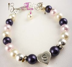 Flower Girl Bracelet with Custom colors and por BridalFlipFlops