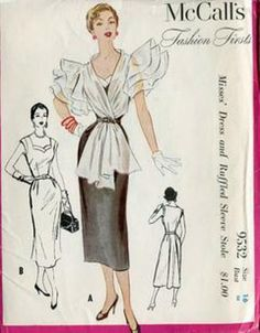 1950s McCall's Fashion Firsts McCall's 9532