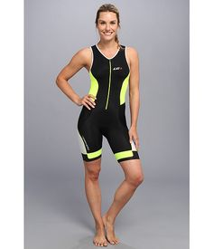 Louis Garneau Women Pro Suit Black/Fluro Yellow - Zappos.com Free Shipping BOTH Ways