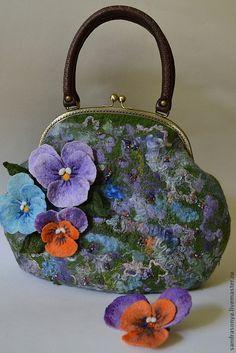Купить Валяная сумка, по мотивам работы Viola - валяная сумка, женская сумка, весна, лето