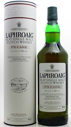 Laphraoig PX casks. lovely 3rd maturation in PX casks for 12 months. thick, sweet, peaty. wonderful.