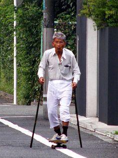 Extreme Old People - Skateboarding