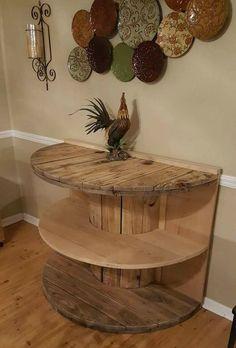 Repurposed Spool Table.