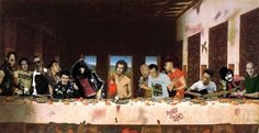 """Punk Legends 55 Pop Culture Parodies Of """"The Last Supper"""" Last Supper Art, Da Vinci Last Supper, Peel Sessions, Punks Not Dead, Tales From The Crypt, Music Artwork, Supper Club, Snoop Dogg, Post Punk"""