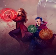 I hope Marvel will actually pair these two characters together. It would be a missed opportunity if they don't. Marvel Fan Art, Marvel Heroes, Marvel Avengers, Doctor Strange, Marvel Characters, Marvel Movies, Elizabeth Olsen, Steve Rogers, Scarlet Witch Marvel