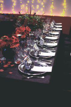 goth wedding table