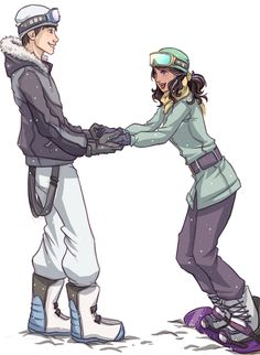 Humanized Toothiana and Jack Frost