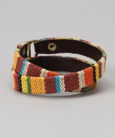 Look at this #zulilyfind! ZAD Warm Baja Stripe Wrap Bracelet by ZAD #zulilyfinds