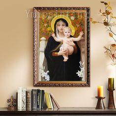 Jesus Christ Painting On Canvas Wall Art Pictures for living room Home Decor Jesus Christ Virgin Mary Holding The Jesus Art On Canvas Bull Painting, Large Painting, Painting Frames, Jesus Christ Painting, Jesus Art, Skyline Painting, Acrylic Artwork, Catholic Art, Wall Art Pictures
