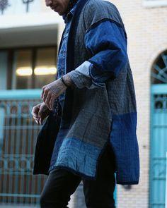 Vintage Indigo Hand-Stitched Sashiko Boro Jacket