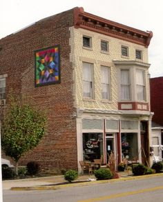 These beautiful Quilt Art Squares are not just for barns anymore!  They are now appearing on buildings in cities as well!