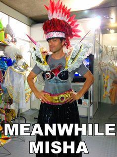 Meanwhile, Misha...