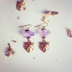 Cat Amethyst boho earrings