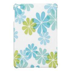 Blue Green Floral - iPad Mini Case