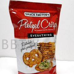Snack Factory EVERYTHING Pretzel Crisps thin cracker chips 11.25 oz bag seeds #SnackFactory #BigBoyTumbleweed