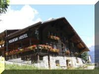 Gimmelwald Hostel, Swiss Alps = best raclette, ever!