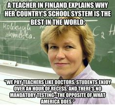 Blog post about schools in Finland vs. schools in America