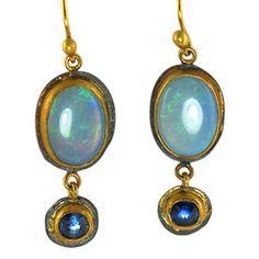 Opal & Kyanite Earrings