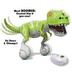 Zoomer Dino Boomer can chase, chomp, guard and even roar.Control your very own dinosaur if you can.